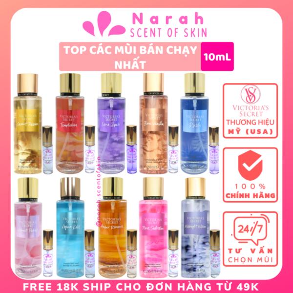 Xịt thơm body mist Victoria size 10ml dòng hương Best-selling scents Link 2 - Narah ScentOfSkin