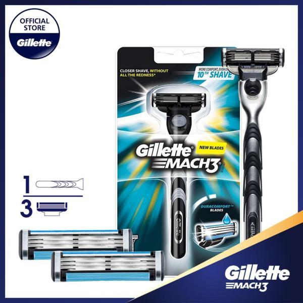 Combo dao cạo râu Gillette Mach3 Classic (kèm 2 lưỡi) giá rẻ