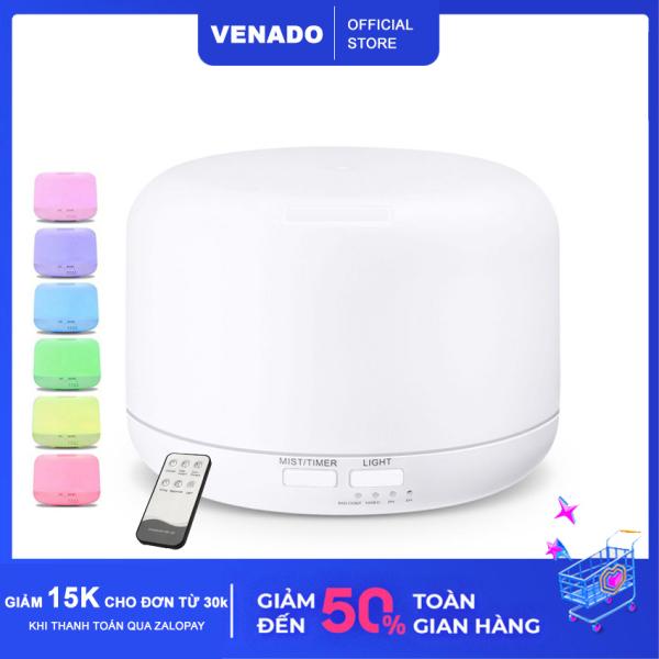[Có Remote] Máy khuếch tán tinh dầu hình trụ nhựa abs 500ml và 300ml làm thơm phòng phun sương tạo độ ẩm - Venado