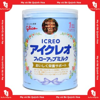 Sữa Glico Icreo số 1-3 (số 1) cho bé từ 9 tháng đến 3 tuổi hộp 820g - [HÀNG CHÍNH HÃNG - CÓ TEM PHỤ TIẾNG VIỆT] - Sữa tăng cường hệ tiêu hóa và miễn dịch - Sữa giúp trẻ tăng cân tốt - Hỗ trợ phát triển trí não tối ưu thumbnail