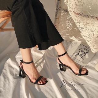 giày cao gót - sandal cao gót 7p đế khuyết siêu đẹp thumbnail
