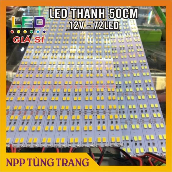 Bảng giá Led thanh 12V - 50cm Siêu sáng 72 mắt LED