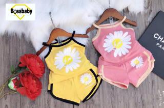 SÉT 2 BỘ cho bé gái hoa cúc , áo 2 dây mùa hè siêu xinh cho bé 6-24kg.