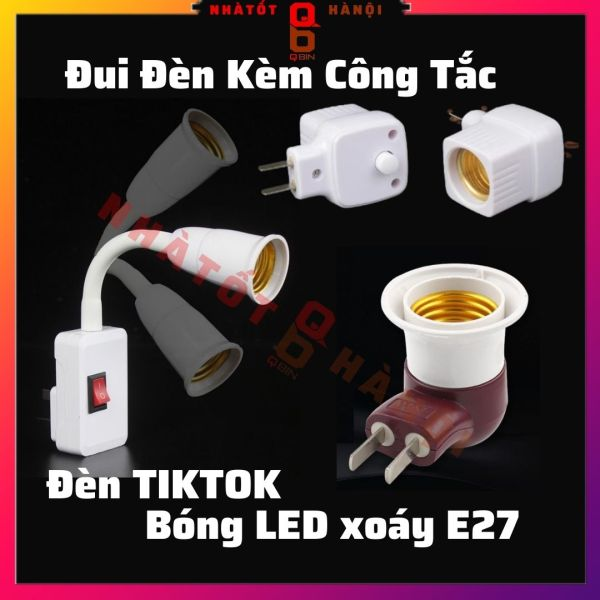 Bảng giá Đui đèn trực tiếp bóng chân tròn xoáy E27 thông dụng bóng đèn led tiktok đèn trần gia đình