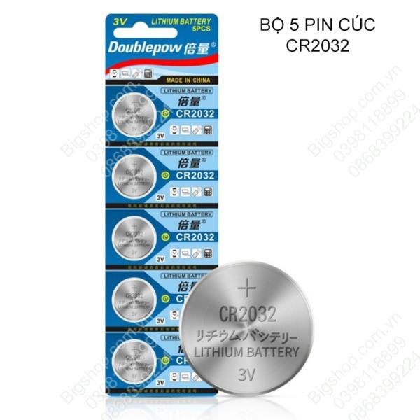 Vỉ 5 viên pin CR2032 dùng cho máy tính (pin CMOS), thiết bị remote-điều khiển, đồng hồ, khóa oto, khóa chống trộm điện tử (loại tốt)