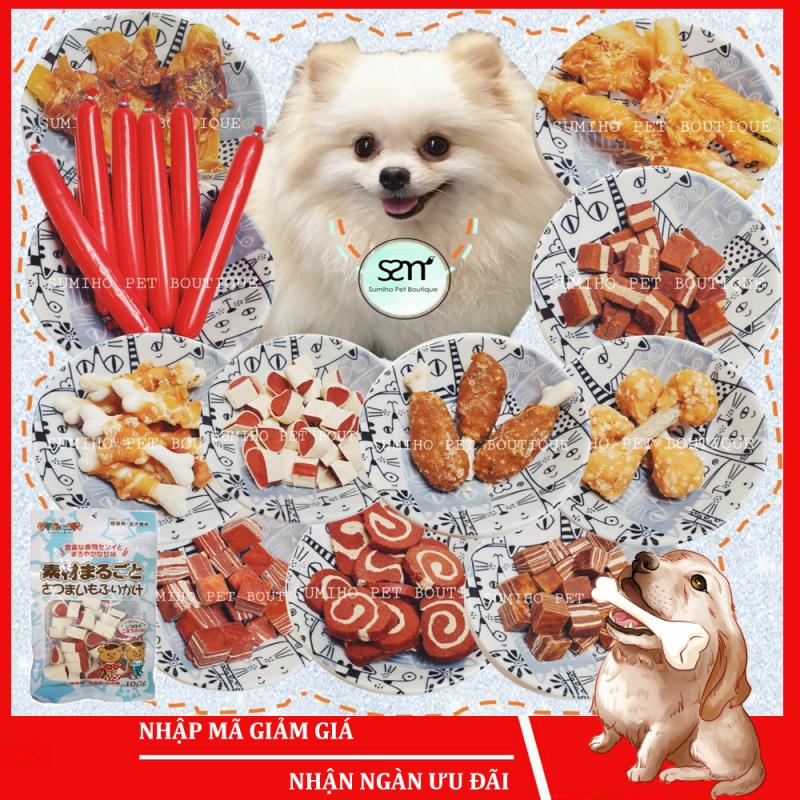 Bánh thưởng cho chó Sumiho (100gr/túi) Đồ ăn cho chó mèo thú cưng