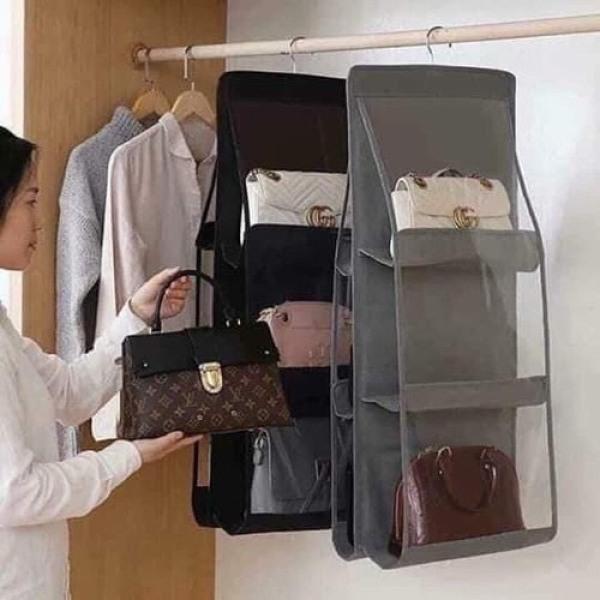 Túi treo giỏ xách 6 ngăn đa năng cao cấp chắn bụi tiện dụng, túi treo túi ví đa năng