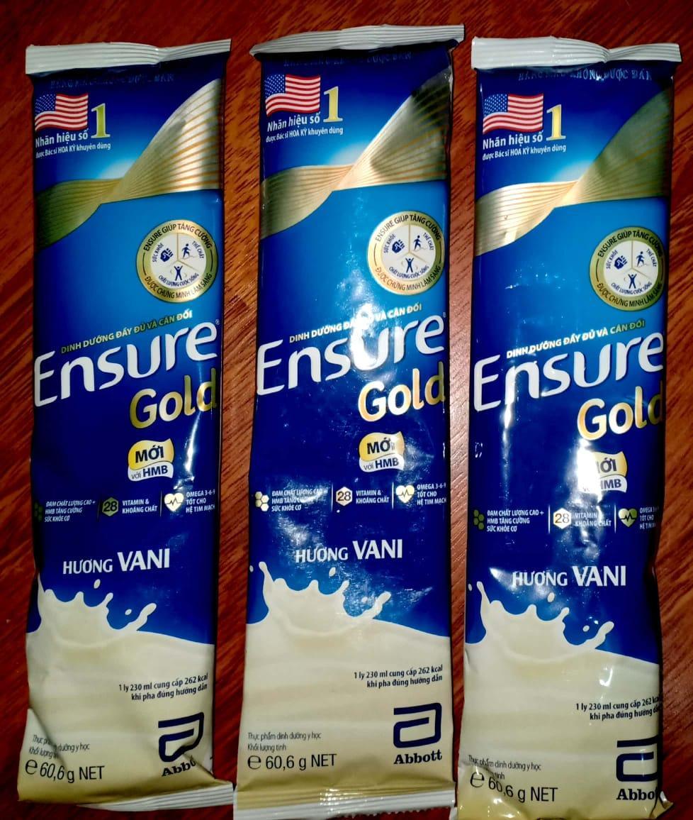 Sữa bột Ensure Gold HMB Hương Vani dạng túi 60.6g x 1 túi
