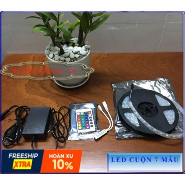 Bảng giá Đèn LED dây đổi màu (RGB) chống nước dài 5m + nguồn + Remote Phong Vũ