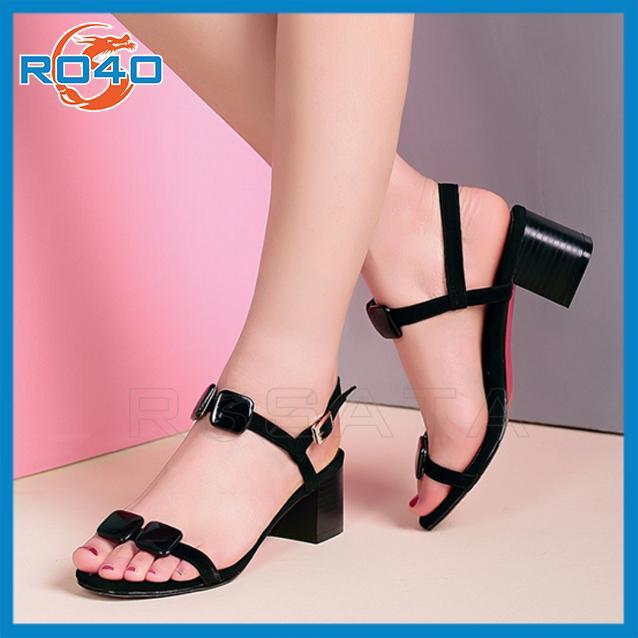 Giày sandal nữ đẹp cao gót thời trang trẻ trung-RO40