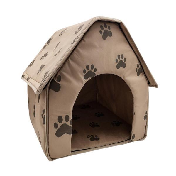 Comebuy88 Thú Cưng Giường Mèo Nhà Có Thể Gập Lại Có Thể Tháo Rời Chân Mềm Mại In Hình Cho Thú Cưng Chó Mèo Giường Ngôi Nhà Ấm Áp