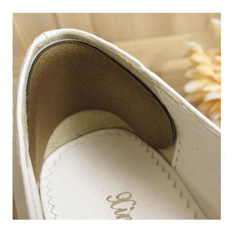 01 cặp lót giày chống trầy gót chân khi mang giày cao gót, giày búp bê - Loại hạt xoài - PK20