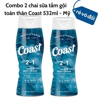 [HCM]Combo 2 chai sữa tắm gội toàn thân Coast Hair Body Wash 532ml - Mỹ thumbnail