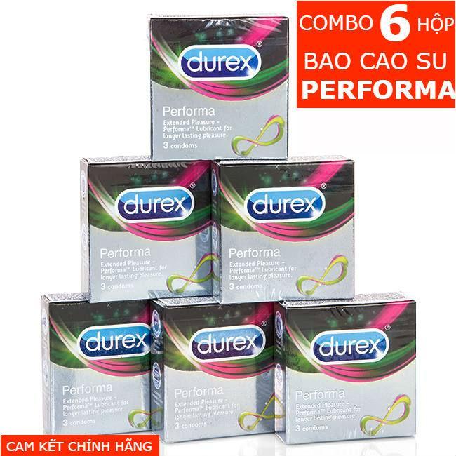 Combo 6 Hộp Bao Cao Su Durex Performa 3 Condoms