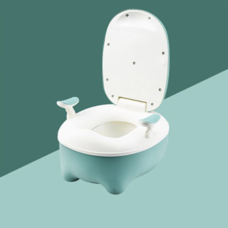 Bô Vệ Sinh Cho Bé - Bệ Ngồi Toilet Trẻ Em Có Chỗ Dựa Và Khay Hứng Vệ Sinh Tháo Lắp Dễ Dàng thumbnail