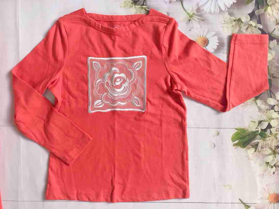 Áo thun cotton BabyGap - Size 120cm - Màu cam Nhật Bản