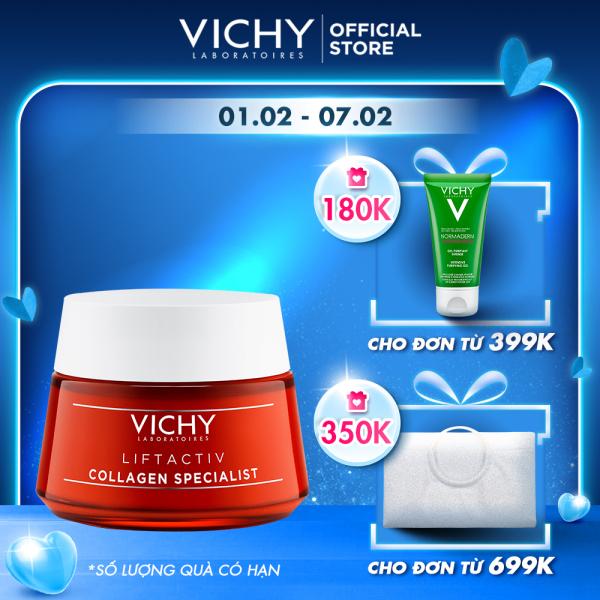 Kem dưỡng ngăn ngừa dấu hiệu lão hóa và làm săn chắc da Vichy Liftactiv Collagen Specialist 50ml giá rẻ