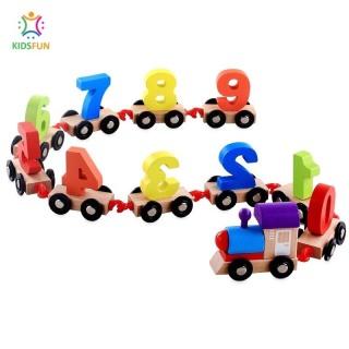Đồ chơi trẻ em bộ tàu hỏa 11 TOA DÀI 85CM bằng gỗ giúp trẻ tập đếm số và phân biệt màu sắc thumbnail