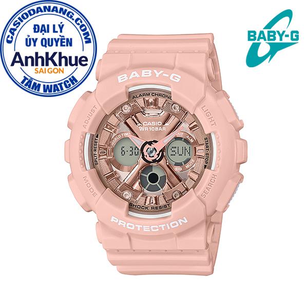 Đồng hồ nữ dây nhựa Casio Baby-G chính hãng Anh Khuê BA-130-4ADR (43mm)