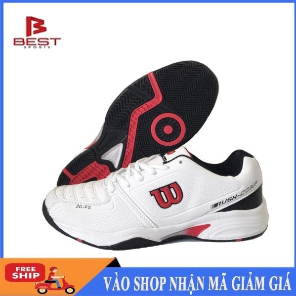 Giày tennis nam Wilson mẫu mới, chống lật cổ chân, dành cho nam, màu trắng đủ size - giầy tennis cao cấp - Giầy nam - shop thể thao 568 giá rẻ