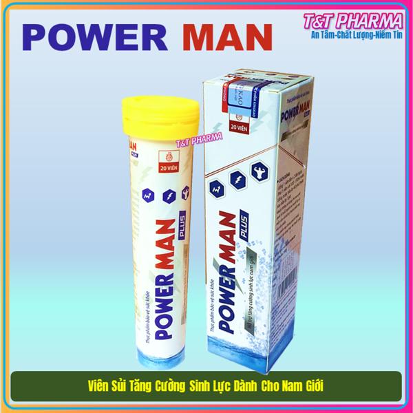 Viên Sủi Power Man - Tăng Cường Sinh Lý -  Hỗ Trợ 1h - Bí Quyết Chinh Phục - Thể Hiện Bản Linh Đàn Ông