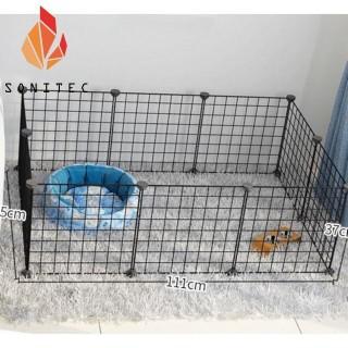 Combo 10 Tấm Lưới Sắt 35x35 Ghép Kệ Sắt Lắp Ghép Dùng Để Làm Trang Trí Kệ Sách Chuồng Quây Cho Thú Cưng Chó Mèo (Tặng kèm 20 Chốt Nối) thumbnail