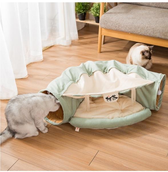 Nệm cho mèo , Ổ nằm cho mèo đường hầm xuyên biên cao cấp sang trọng