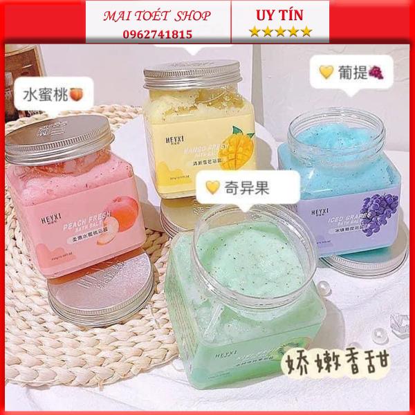 Muối Tắm Tẩy Da Chết Hoa Qủa Heyxi Bath Salt Scrub 350g giá rẻ