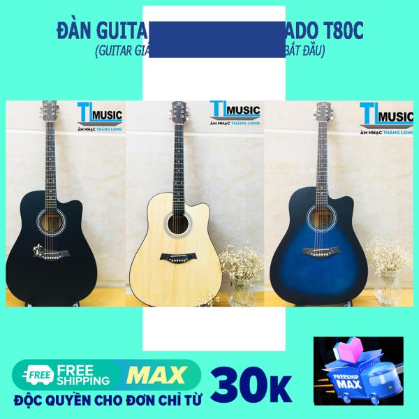 [Guitar giá rẻ] Đàn ghita Acoustic Tokado T80C - Acoustic guitar Tokado T-80C ( Kèm Bao đựng và pick gảy )
