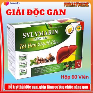 Viên uống Bổ gan Sylymarin Diệp Lục Tỏi Đen với thành phần cà gai leo 2400mg, diệp lục 15000mcg,sylymarin 20000mcg giúp giải độc gan, hạ men gan,- HỘP 60viên thumbnail
