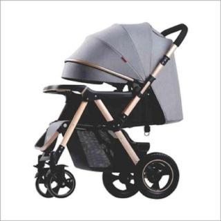 Xe đẩy trẻ em 2 chiều ba tư thế cao cấp BELECO 511 bảo hành 12 tháng, lốp trước giảm sốc, lốp sau bánh hơi chống thủng thumbnail