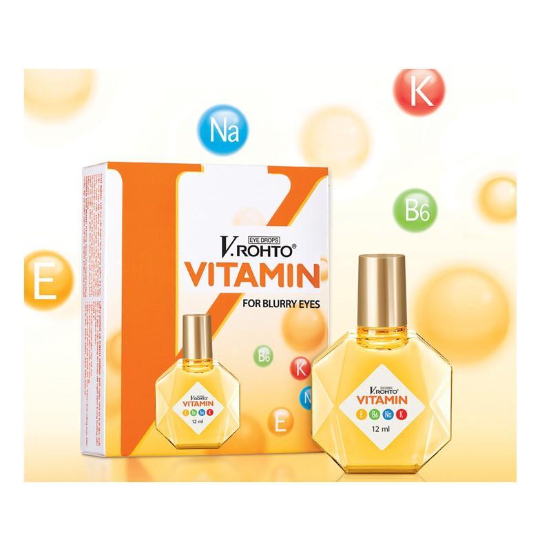 Thuốc nhỏ mắt ROHTO Vitamin 12ml Nhật Bản