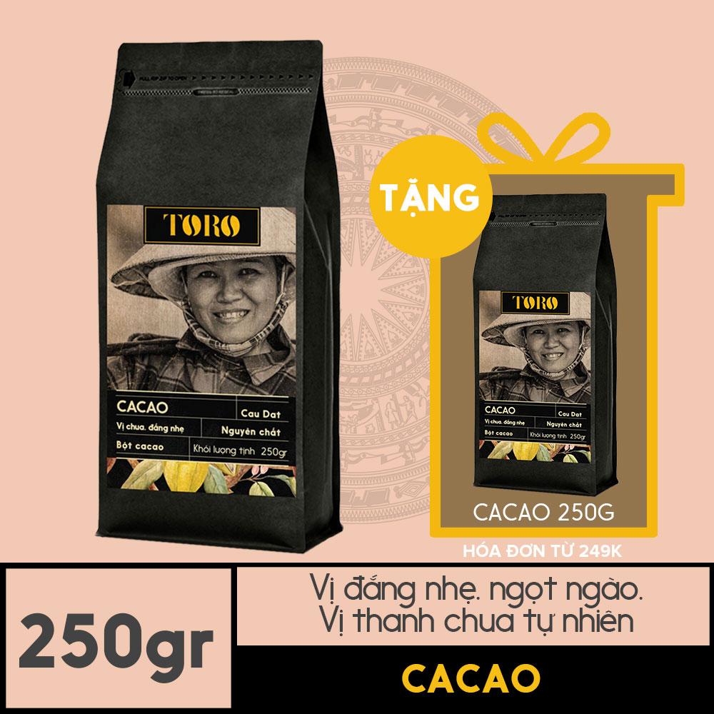 Offer Ưu Đãi Bột Cacao TORO 250gr - Nguyên Chất Thơm Ngon - Không Pha Trộn Hương Liệu - [TORO FARM] - Tặng 1 Gói Cà Phê Cacao 250gr Cho đơn Hàng Từ 249k