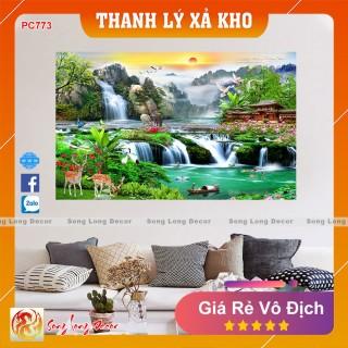 Tranh dán tường 3d Sơn Thủy Hữu Tình - PC773- Tranh 3D Phong Thủy- Giấy dán tường 3d - Song Long Decor thumbnail