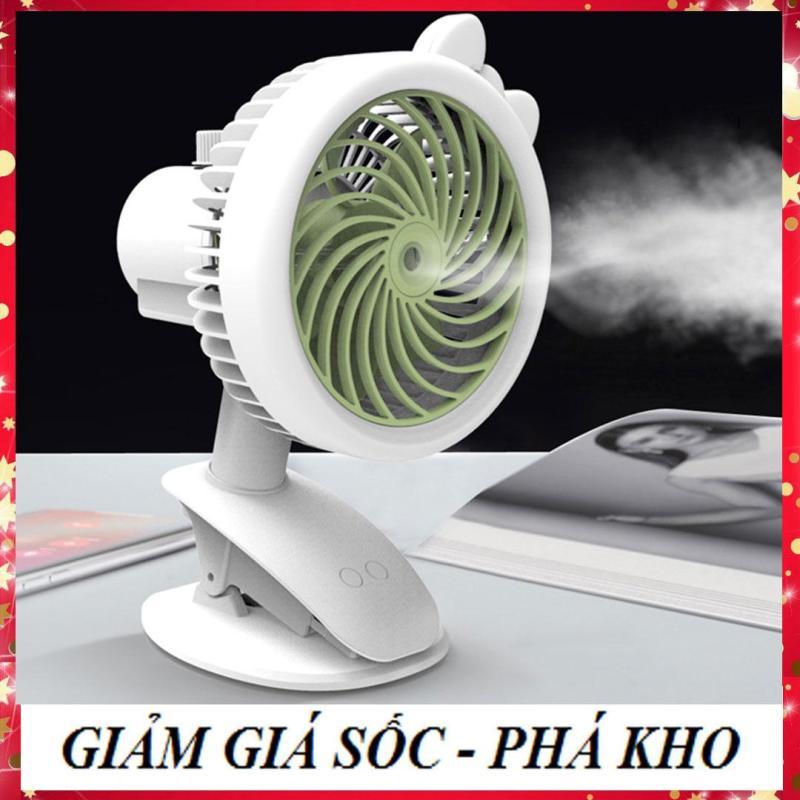 [LOẠI XỊN- CÓ CHẾ ĐỘ QUAY - ĐƯỢC CHỌN MÀU ] Quạt hơi nước mini phun sương tích sạc điện có kẹp để bàn tiện lợi như máy lạnh điều hòa mini di động NGOÀI RA SHOP BÁN CẢ QUẠT MÁY HƠI NƯỚC MINI