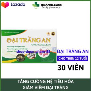 HSD 2023 Viên uống Đại Tràng An - Nano Curcumin kết hợp thảo dược quý giúp tăng cường hệ tiêu hóa, giảm viêm đại tràng hiệu quả - Hộp 30 viên chuẩn GMP Bộ Y tế dược phẩm 88 thumbnail