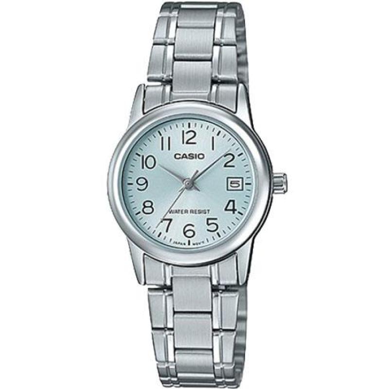 Đồng hồ nữ dây thép không gỉ Casio Anh Khuê Đại lý Casio Phước Lộc LTP-V002D-2BUDF