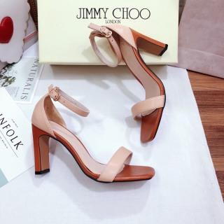 Giày sandal cao gót nữ bít mũi sọc thumbnail