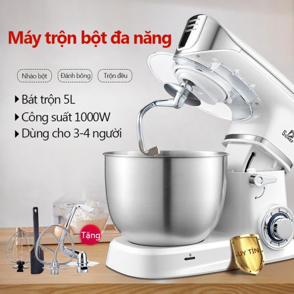 Bảng giá Máy trộn bột máy đánh trứng cỡ lớn đa năng bát inox 5 lít/6 lít công suất 1000W /1300W máy trộn bột đánh kem làm bánh tiện dụng Redepshop Điện máy Pico