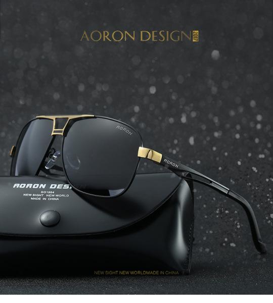 Giá bán Kính râm, kính mát nam AORON, mắt kính phân cực polarized chống chói, chống tia UV400 A8521- fullbox
