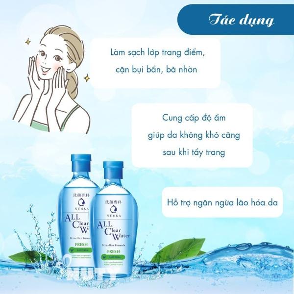 Nước tẩy trang Micellar Senka A.L.L Clear Water Fresh 70ml giá rẻ