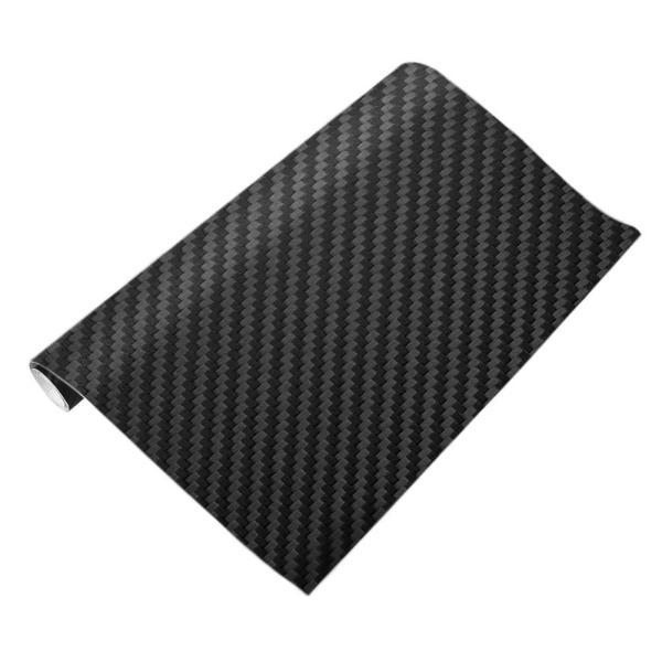 3D Sợi Carbon Bọc Vinyl Tấm Cuộn Phim Dán Xe Hơi (Đen) (127x10 cm)