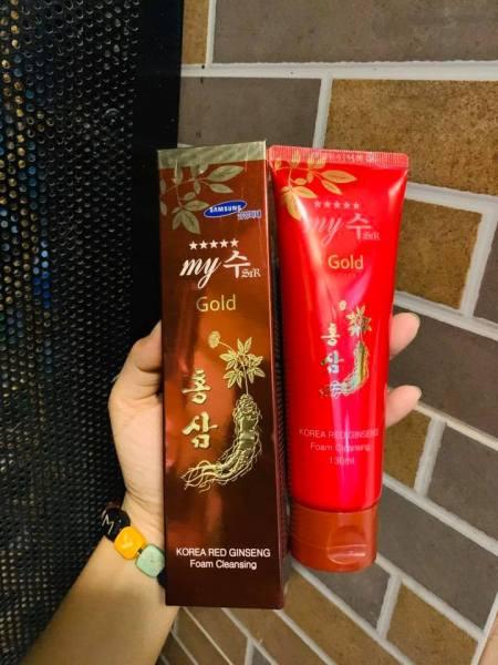 Sữa Rửa Mặt Sâm My Gold Hàn Quốc cao cấp