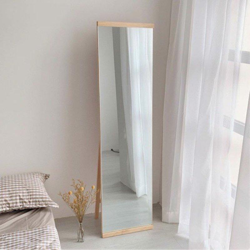 Gương Đứng Soi Toàn Thân Tràn Viền Khung Gỗ 42*165 - A Mirror - Natural