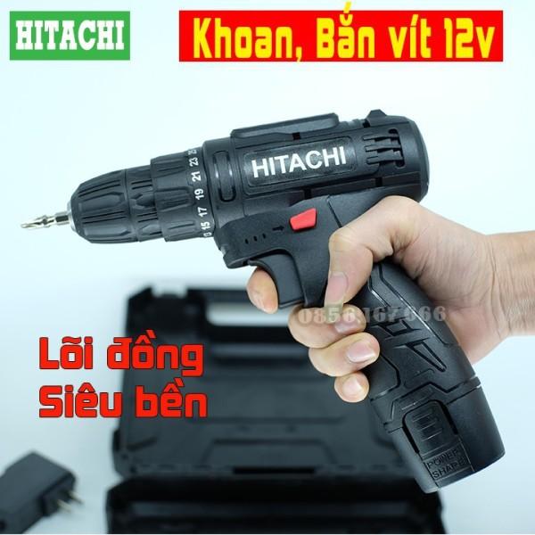 Máy Khoan Pin   12V  Bắn Vít  Vặn Vít   Khoan Cầm Tay 2 Cấp Tốc Độ  100  Đồng  Siêu Bền  Có Đèn