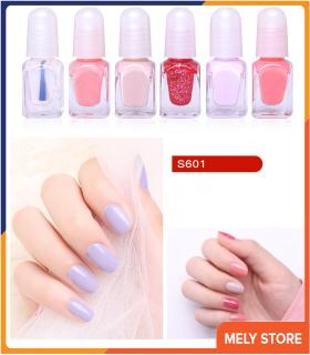 Set sơn móng tay mini dạng nước 6 màu, bộ nước sơn móng tay, sơn móng tay thường được sử dụng nhất, sơn móng tay bóng ST004 thumbnail