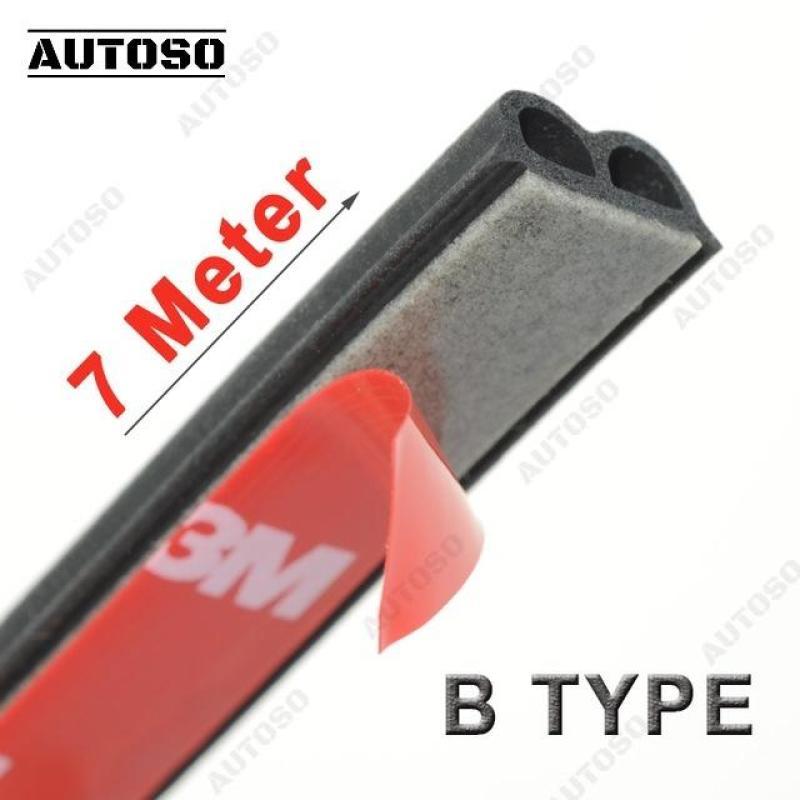 Gioăng cao su chữ B chống ồn xe hơi - Bộ 7 MÉT  6x14mm, gioăng chống bụi, thoát nước cao cấp - AUTOSO