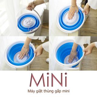 Thùng giặt máy giặt mini có thể gấp gọn tua bin xoáy tiếng ồn thấp máy giặt cỡ nhỏ mini Tops Market thumbnail