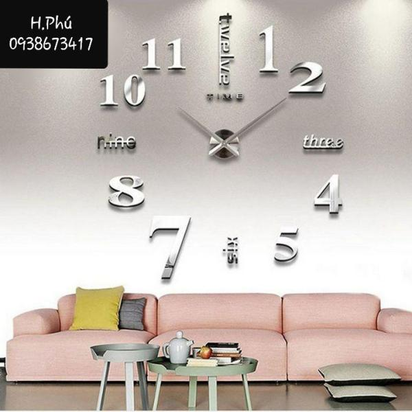 Đồng hồ treo tường trang trí 3D loại lớn 120cm bán chạy