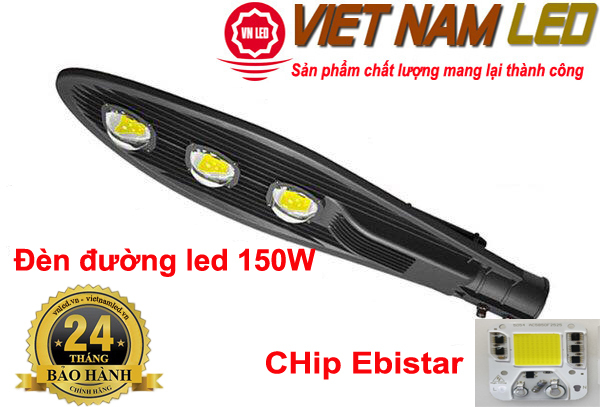 Bảng giá Đèn đường led 150W 3 mắt led, đèn led đường phố, vnled, vietnamled, 0936395395